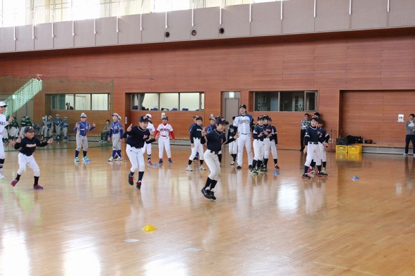 State of keep-fit class for upper grades