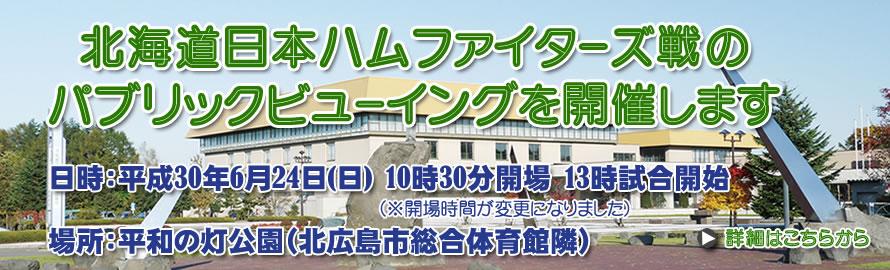 举行北海道日本火腿战士战的paburikkubyuingu